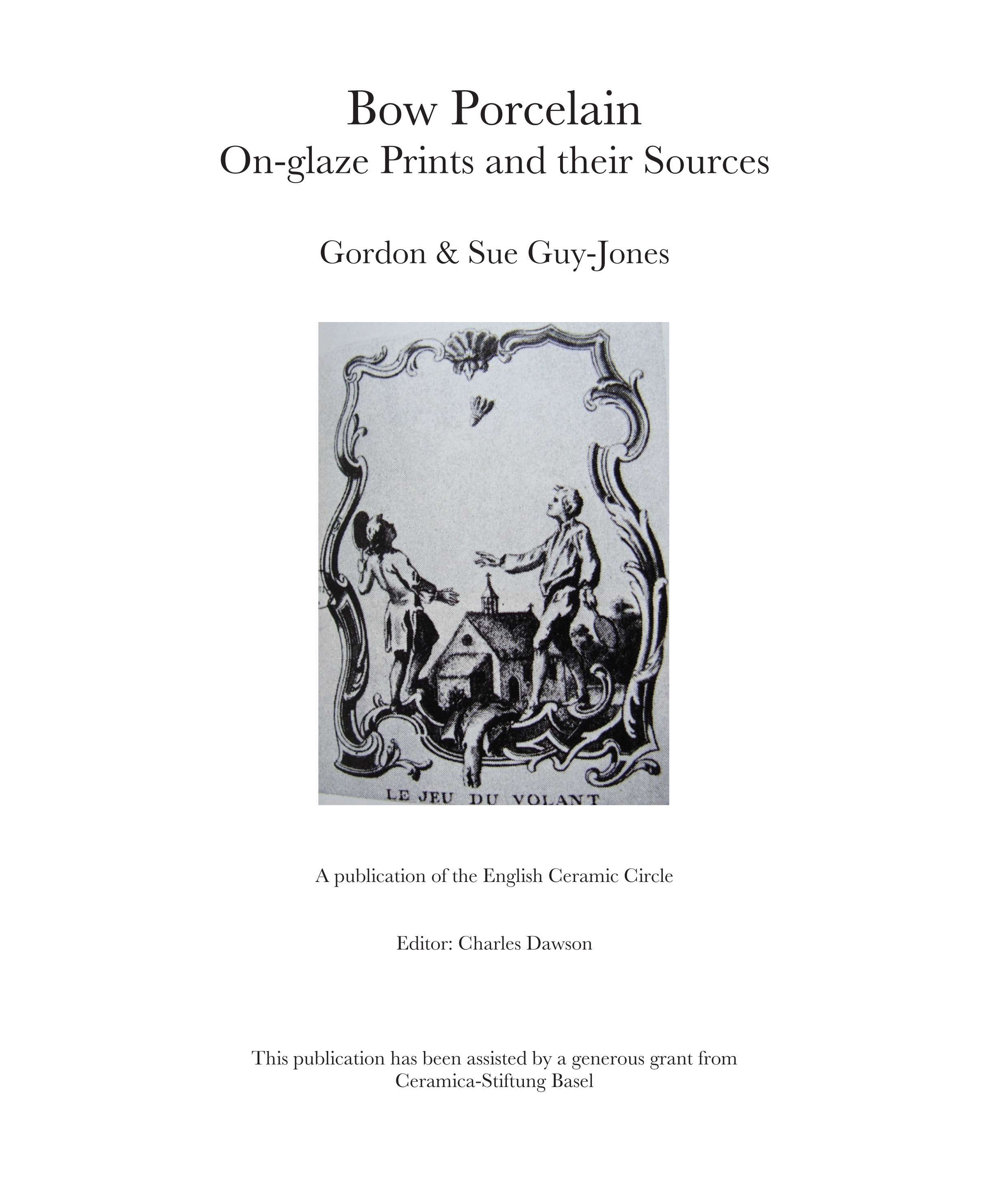 View Bow Porcelain on-glaze Prints and their Sources - Part 1