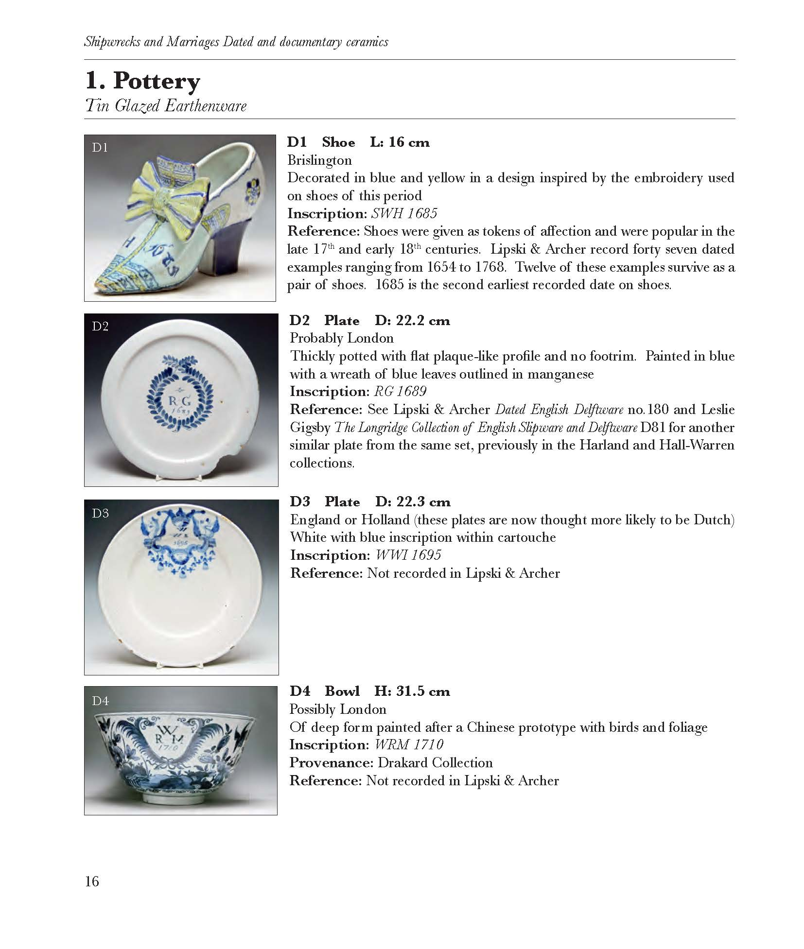View Shipwrecks and Marriages - Dated and Documentary Ceramics