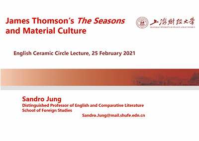 Sandro Jung - James Thompson's The Seasons and Material Culture